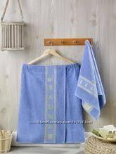 Набор для бани и сауны: килт и полотенце для лица. Махра. Турция