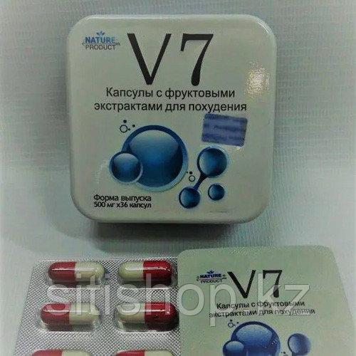 Капсулы для похудения в металлической упаковке - V7 (36 капсул)