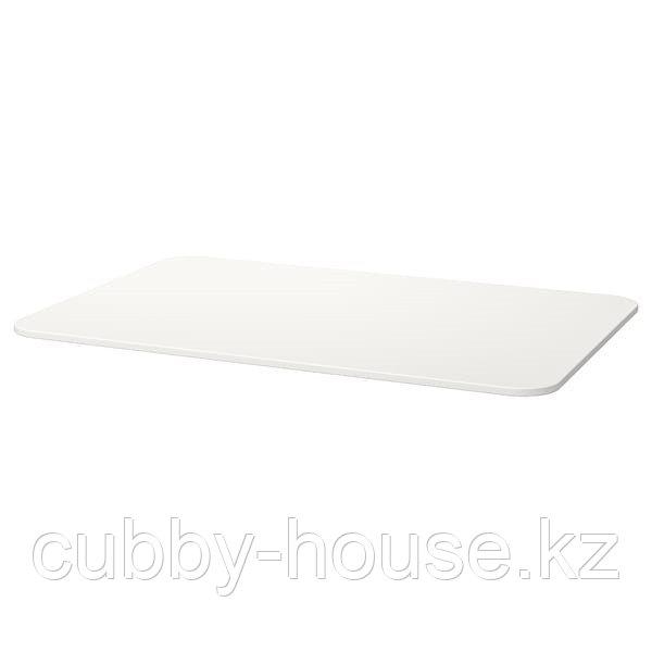 БЕКАНТ Столешница, белый, 120x80 см