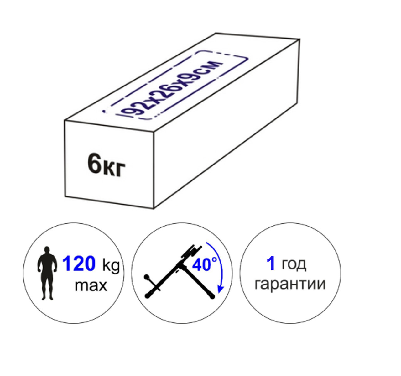 Скамья для мышц спины 120 кг Россия - фото 3