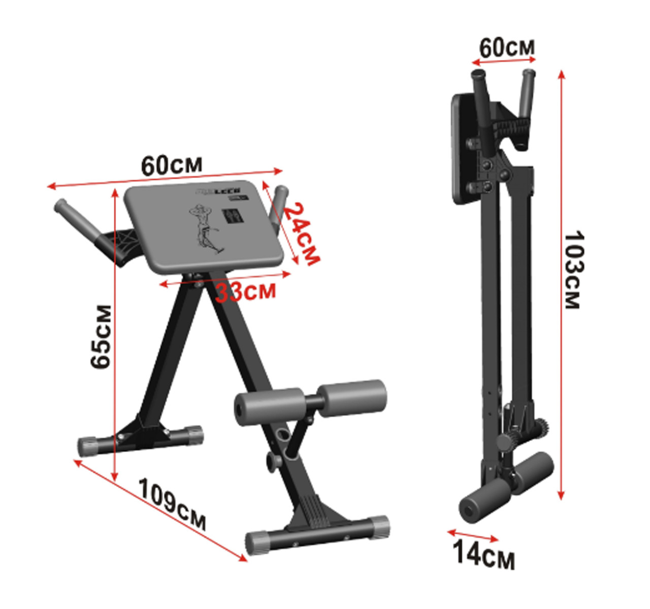 Скамья для мышц спины 120 кг Россия - фото 4