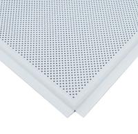 Белый матовый перфорированный (Кассетный потолок на видимой системе) без каркаса