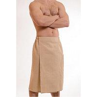 Вафельный мужской килт для бани и сауны.