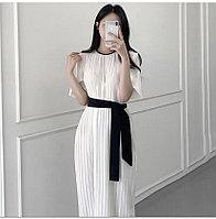 Белое плиссированное платье!