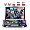 """Игровая подставка-кулер для ноутбука 18""""  с боковой RGB подсветкой, фото 2"""