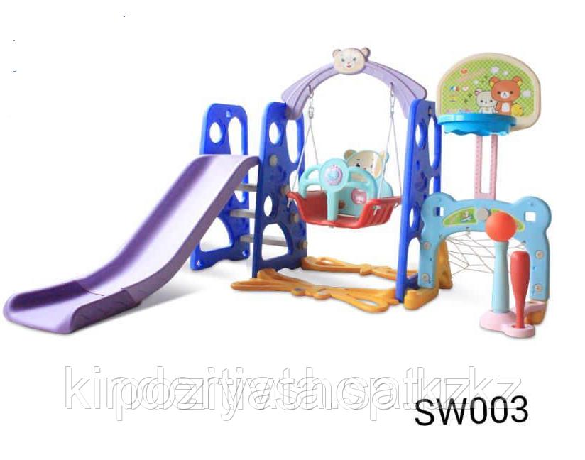 Детский игровой комплекс SW003 синий, розовый
