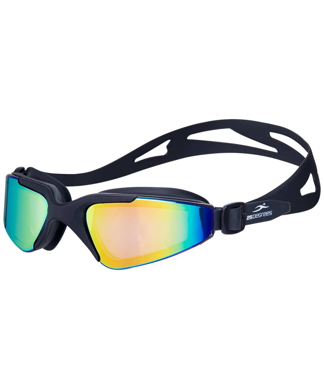 Очки для плавания Prisma Mirrored Black, подростковые 25Degrees
