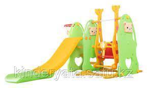 Детский игровой комплекс с горкой и качелей Hello baby