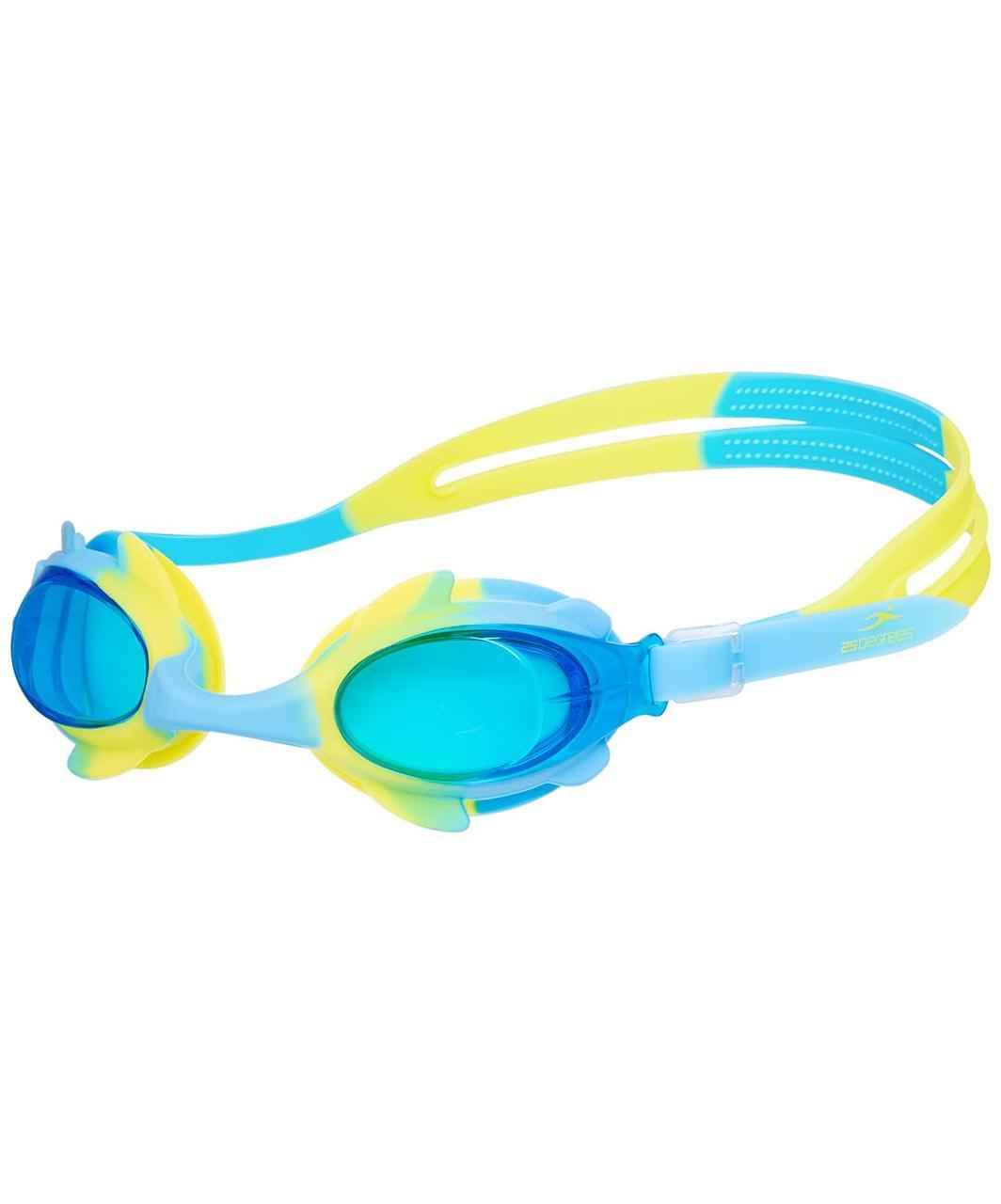Очки для плавания Yunga Light Blue/Yellow, детские 25Degrees