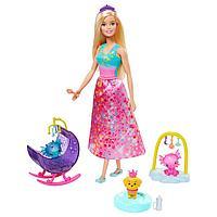 Barbie Dreamtopia Заботливая принцесса Барби Детский сад для драконов GJK51