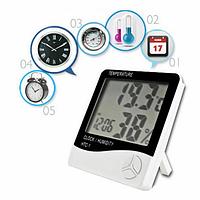 HTC-1 цифровой LCD термометр часы гигрометр 3 в 1