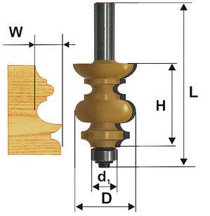 Фреза кромочная фигурная Ф38,1Х38,1 мм, хвостовик 12 мм