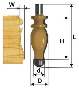 Фреза кромочная фигурная Ф25,4Х42,9 мм, хвостовик 12 мм