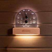 Термогигрометр PREMIO с подсветкой, арт. 635, Ольха