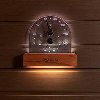 Термогигрометр PREMIO с подсветкой, арт. 635, Термодревесина