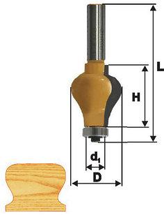 Фреза кромочная фигурная Ф32Х38 мм, хвостовик 12 мм