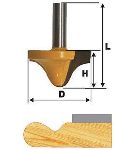 Фреза кромочная фигурная Ф38Х19 мм, хвостовик 12 мм