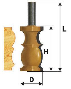 Фреза кромочная фигурная Ф31,8Х57,2 мм, хвостовик 12 мм