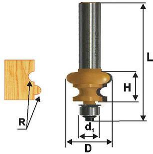 Фреза кромочная фигурная Ф25.5Х16 мм R3,2 мм, хвостовик 8 мм