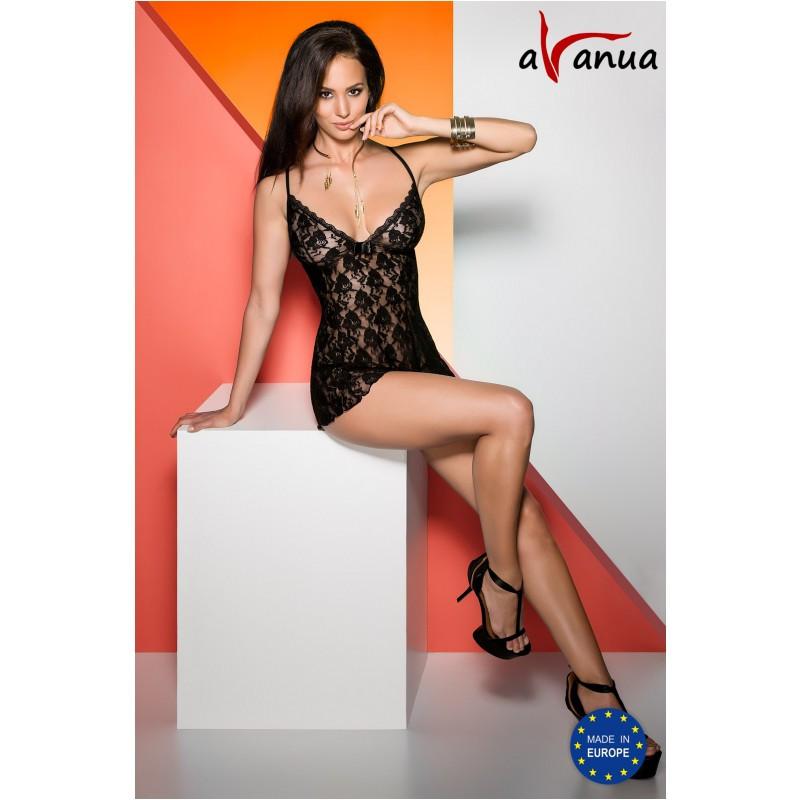 """Ночнушка """"DAIVA CHEMISE black"""" - Avanua, размер S"""