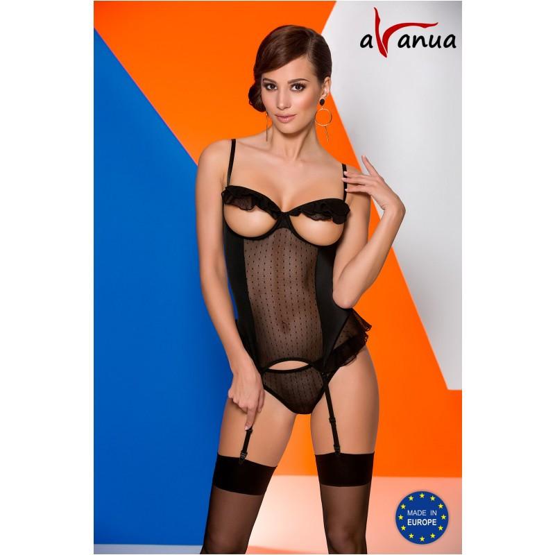 "Комплект ""EFFI CORSET black"" - Avanua, размер L"