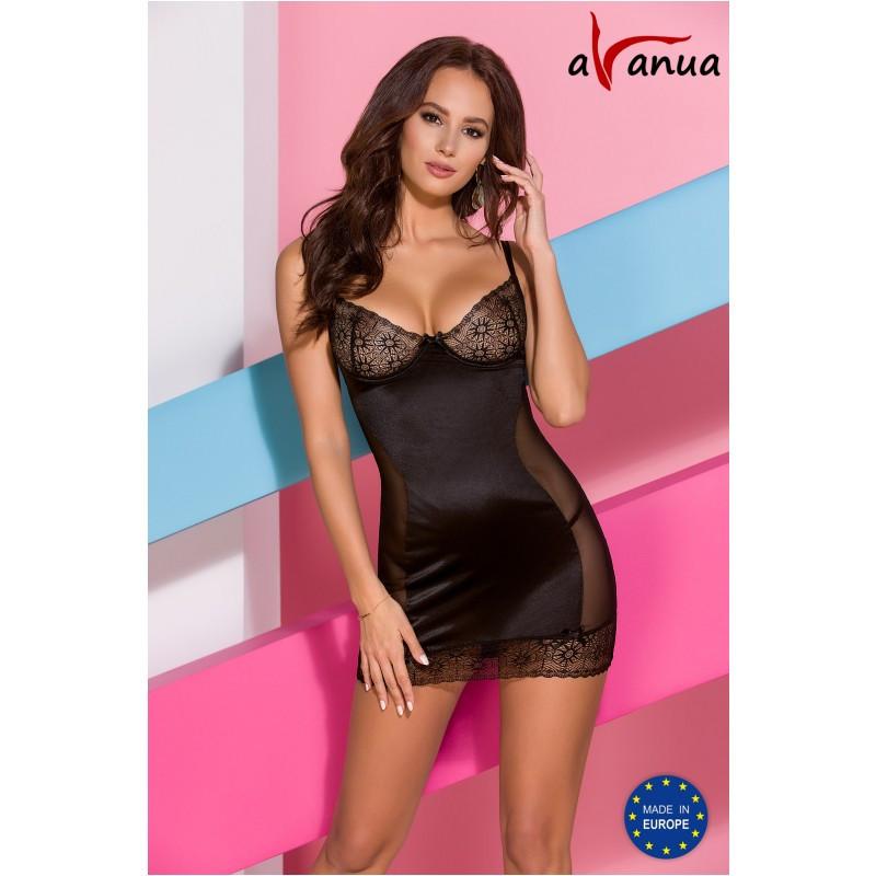 "Платье-сорочка ""HANAN CHEMISE"" black - Avanua, размер S"