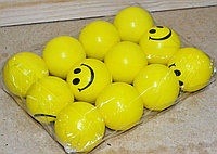 Мяч смайлик поролоновый 12шт в уп., цена за уп.