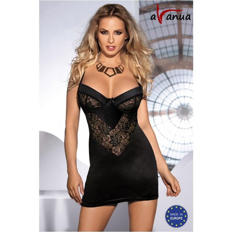 "Платье-сорочка ""LEIS CHEMISE"" black - Avanua, размер L"
