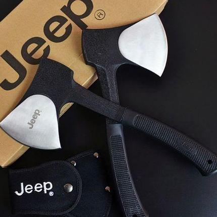 Топор туристический Jeep цельнометаллический с двумя чехлами, фото 2