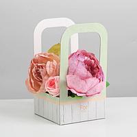 Коробка-переноска для цветов For you, 12 × 12 × 22 см