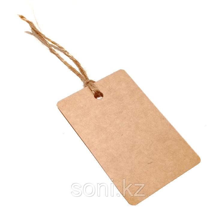 Бирка крафт, картон 85х55мм