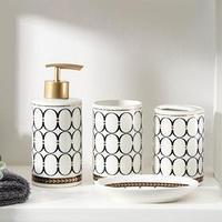 Набор аксессуаров для ванной комнаты 'Джеки', 4 предмета (мыльница, дозатор для мыла, 2 стакана)