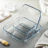 Набор квадратной посуды для запекания Borcam, 3 предмета 1,95 л, 3,2 л, 1,04 л