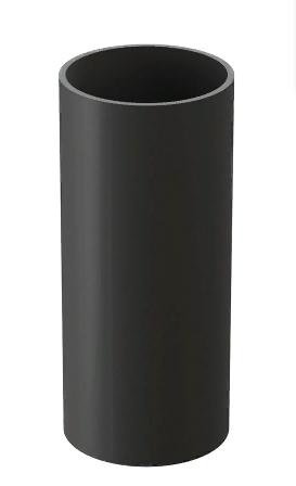 Труба водосточная 3000 мм DOCKE LUX (Дёке) Графит  Ø100