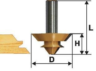 Фреза комбинированная универсальная Ф38,1Х14,3 мм, хвостовик 12 мм