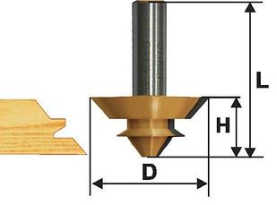 Фреза комбинированная универсальная Ф70Х32 мм, хвостовик 12 мм