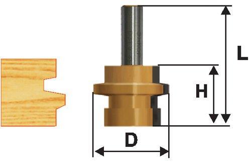 Фреза комбинированная универсальная Ф41,3Х25,4 мм, хвостовик 12 мм
