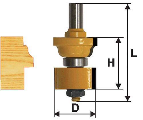 Фреза комбинированная универсальная Ф34,8Х44,5 мм, хвостовик 12 мм