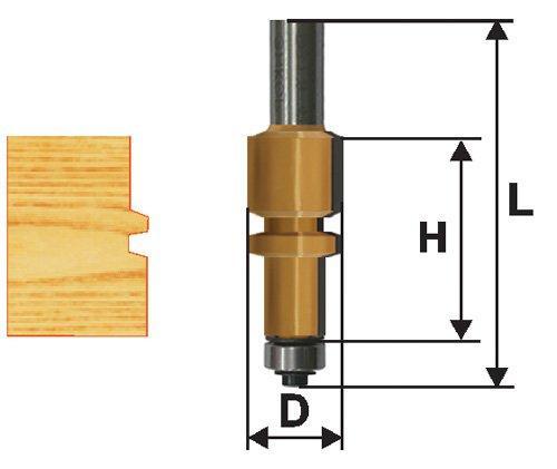 Фреза комбинированная универсальная Ф22,2Х38 мм, хвостовик 12 мм