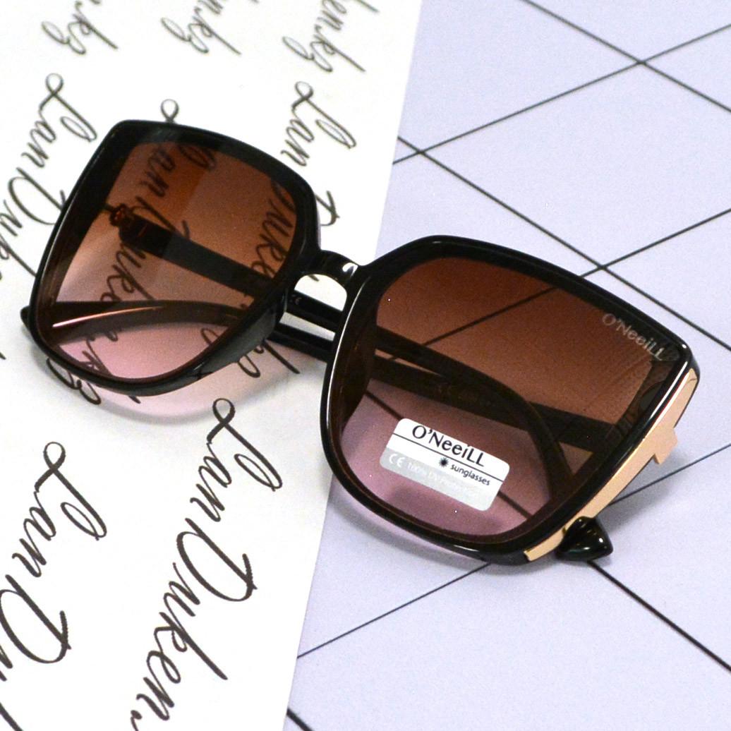 Солнцезащитные очки с коричневыми стеклами UV 400 O'NeeiLL D9105 черные - фото 9