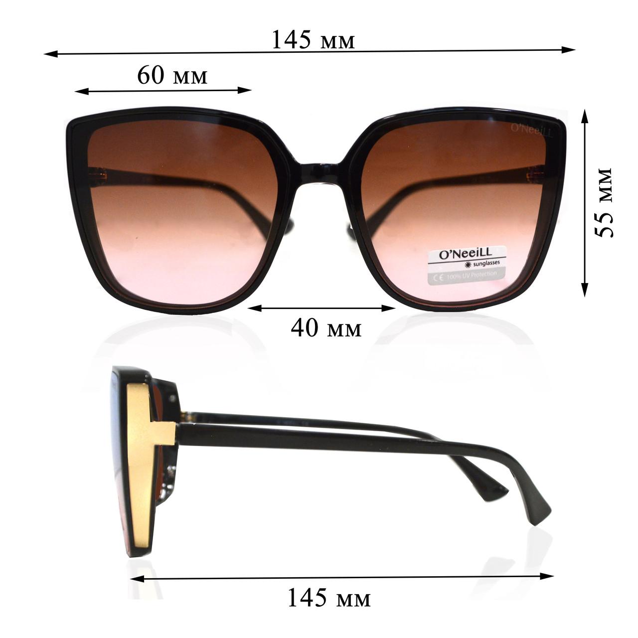 Солнцезащитные очки с коричневыми стеклами UV 400 O'NeeiLL D9105 черные - фото 2
