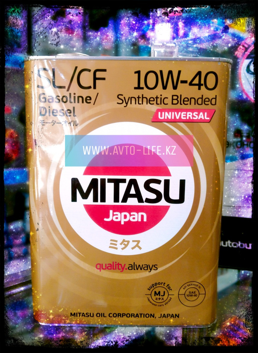 MITASU MOTOR OIL SL/СF 10W-40 UNIVERSAL,4L