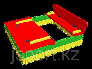 Песочница с крышкой деревянный 2м*2м