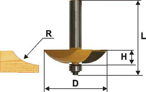 Фреза фигирейная горизонтальная Ф63,5Х14 мм, хвостовик 12 мм