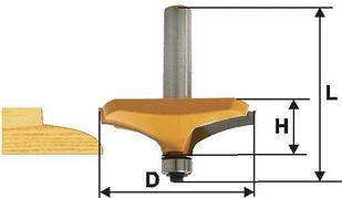 Фреза фигирейная горизонтальная Ф63,5Х19 мм, хвостовик 12 мм