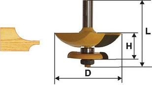 Фреза фигирейная горизонтальная двусторонние Ф79,4 мм, хвостовик 12 мм