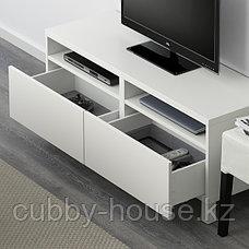 BESTÅ БЕСТО Тумба д/ТВ с ящиками, белый/Лаппвик/стуббарп белый, 120x42x48 см, фото 3
