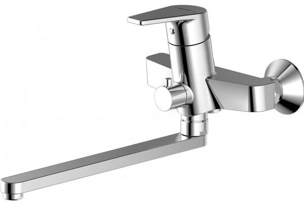 Смеситель для ванны BRAVAT Line F65299C-LB-RUS длинный излив