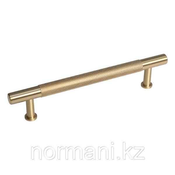 Ручка скоба 128 мм, отделка золото матовое