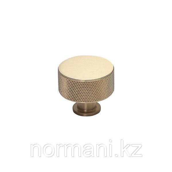Ручка кнопка диаметр 29 мм, отделка золото матовое